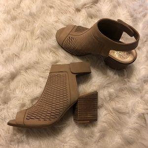 Heeled peep toe booties/sandal